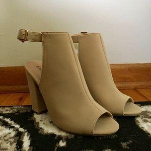 Bamboo Block Heels